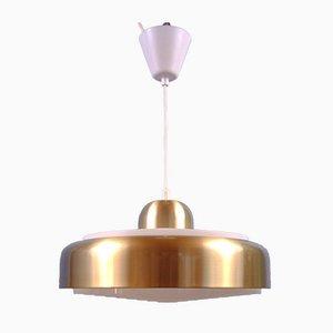 Brass-Colored Pendant Lamp, Sweden, 1970s