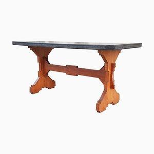 Italienischer Fratino Esstisch aus Holz & Skai, 1950er