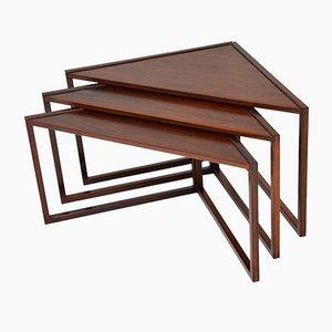 Danish Nesting Tables by Kai Kristiansen for Vildbjerg Møbelfabrik, 1960s, Set of 3