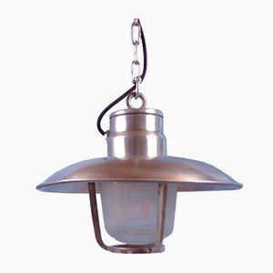 Lámpara colgante vintage de metal cromado