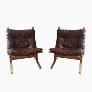 Vintage Siesta Lounge Chairs by Ingmar Relling for Westnofa, 1968, Set of 2
