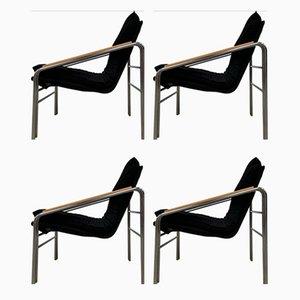 Armlehnstühle mit Chromgestell, 4er Set
