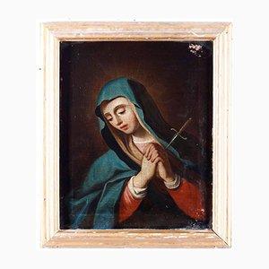 Traurige Maria, 1750er, Öl auf Leinwand, gerahmt