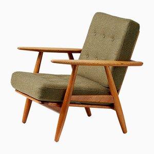 Oak Cigar Chairs by Hans J. Wegner, 1950s, Set of 2