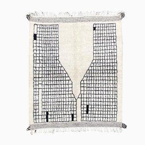Modern Black and White Beni Ourain Carpet