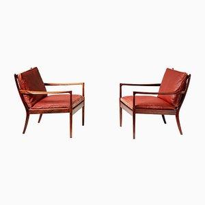 Palisander Samson Stühle von Ib Kofod Larsen, 1950er, 2er Set
