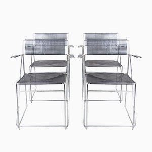 Schwarze X Line Esszimmerstühle von Niels Jørgen Haugesen für Hybodan, 4er Set