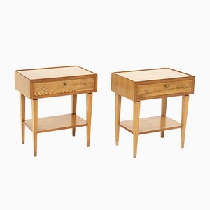 Italian Wooden Bedside Tables, Set of 2