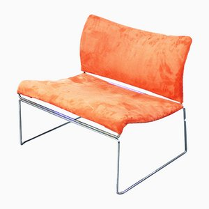 Italian Mid-Century Modern Salmon Pink Lounge Chair by Kazuhide Takahama for Simon Gavina, 1970s
