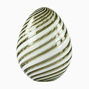 Murano Glass Egg from Venini, Italy, 1988