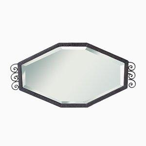 Französischer Art Deco Eisen Spiegel