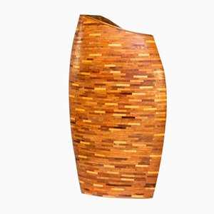 Wooden Yemari Planter and Decorative Object
