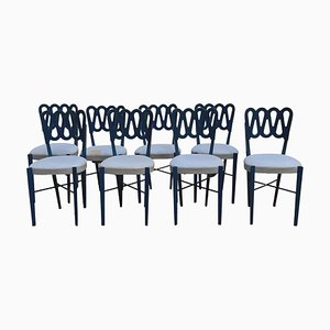 Model 969 Chairs by Gio Ponti for Monrtina, Italy, 1950s, Set of 8