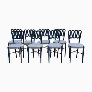 Modell 969 Stühle von Gio Ponti für Monrtina, Italien, 1950er, 8er Set