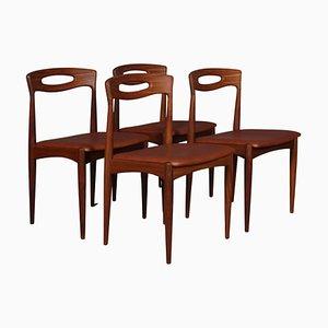 Esszimmerstühle von Johannes Andersen für Uldum Møbelfabrik, 4er Set