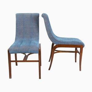 Französische Art Deco Stühle von Jules Leleu, 1920er, 2er Set