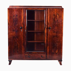 Art Deco High Gloss Cocobolo Cabinet by Jules Leleu, France