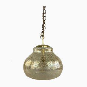 Deckenlampe aus Metall & Glas, 1960er