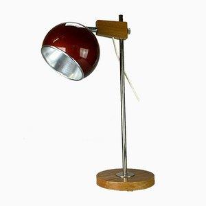 Teak Ball Tischlampe, 1960er