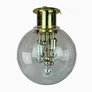 Mid-Century Space Age Glaskugel Deckenlampe von Doria