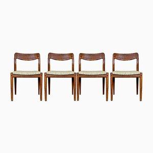 Mid-Century Esszimmerstühle aus Teak von Johannes Andersen für Uldum, 1960er, 4er Set