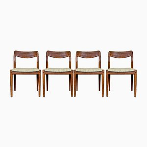 Mid-Century Teak Dining Chairs by Johannes Andersen for Uldum, 1960s, Set of 4