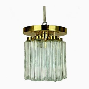 Mid-Century Deckenlampe oder Kronleuchter aus Glas von Limburg