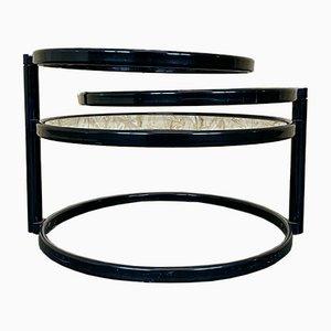 Verstellbarer Mid-Century Beistelltisch oder Couchtisch aus Metall