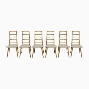 Dänische Mid-Century Esszimmerstühle, 6er Set