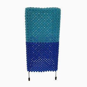Mid-Century Tischlampe aus blauem Kunststoff von Ikea