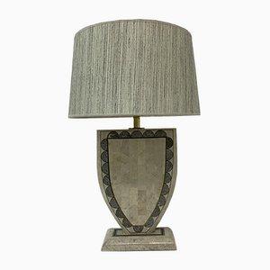Tessellierte Marmor Furnier Tischlampe von Maitland-Smith
