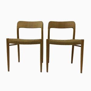 Esszimmerstühle von Niels O. Moller für JL Mollers, Denmark, 1960er, 2er Set