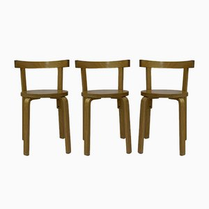 Bentwood Dining Chairs, 1950s, Set of 3