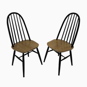 Esszimmerstühle aus Holz, 1960er, 2er Set