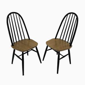 Wooden Dining Chairs, 1960s, Set of 2