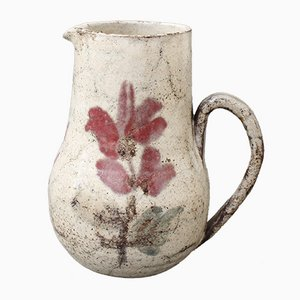 French Ceramic Pitcher by Le Mûrier, 1960s