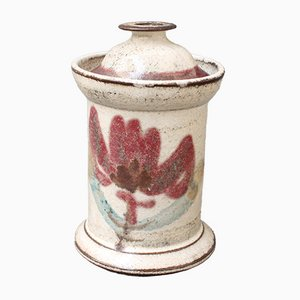 Small Mid-Century French Ceramic Apothecary Jar by Le Mûrier, 1960s