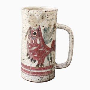 French Ceramic Decorative Mug by Le Mûrier, 1960s