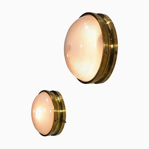 Italian Sigma Ceiling or Wall Lights by Sergio Mazza, Set of 2