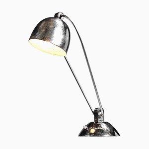 Französische Moderne Art Deco Chrom Tischlampe im Stil von Maison Desny, 1950er