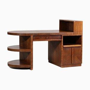 Französischer Modernistischer Schreibtisch aus Massiver Eiche, 1940er