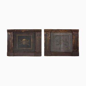 Italian Painted Vanitas Panels, 1990s, Set of 2