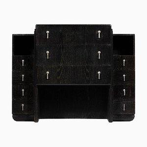Schwarze Art Deco Ceruse Kommode oder Sideboard im Stil von Paul Follot
