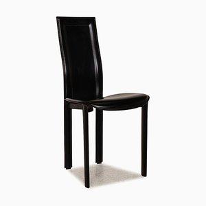 Black Leather Lara Chair from Cattelan Italia