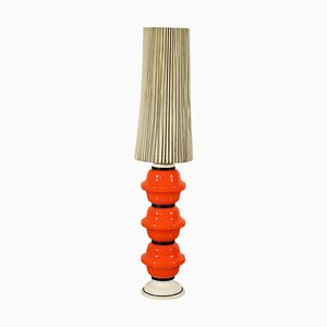 Coloured Glass and Paper Lamp, Italy, 1960s