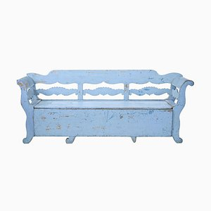 Large Mid 19th Century Swedish Painted Bench or Daybed