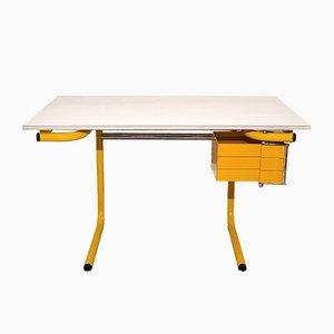Gelber Zeichentisch oder Schreibtisch von Joe Colombo für Bieffeplast, Italien, 1970er