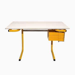 Yellow Drafting Table or Desk by Joe Colombo for Bieffeplast, Italy, 1970s
