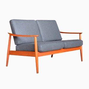 Dänisches Vintage FD 164 2-Sitzer Sofa aus Teak von Arne Vodder für Cado, 1960er