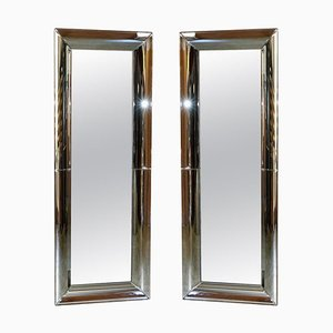 Ganzkörper Wandspiegel mit gebogenen Rahmen, 2er Set
